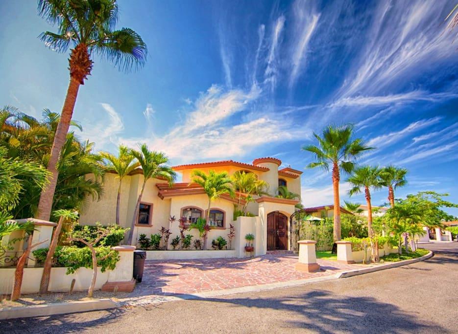 front of private villa