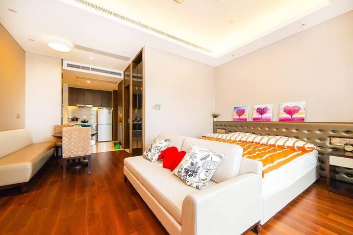 金鸡湖摩天轮公园&久光&诚品零距离一房一厅 - Suzhou - Departamento