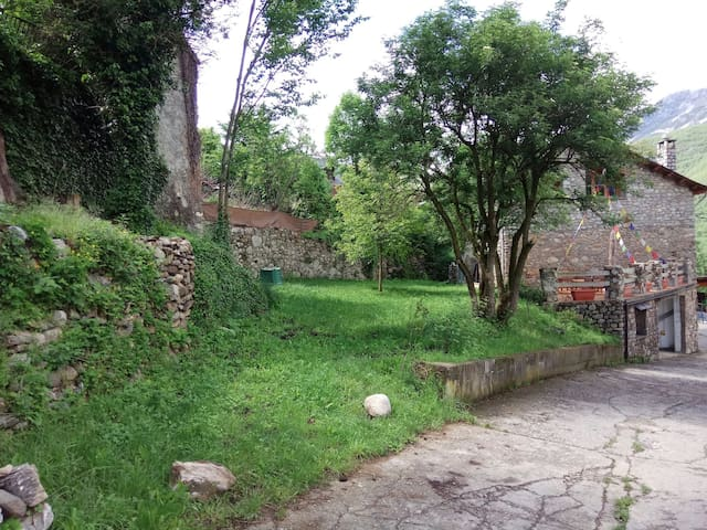 Jardin trasero de la casa. 350m2.