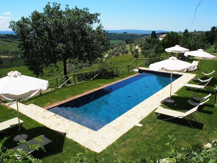 Villa Spoianello, Charme, Design & Pool in Chianti