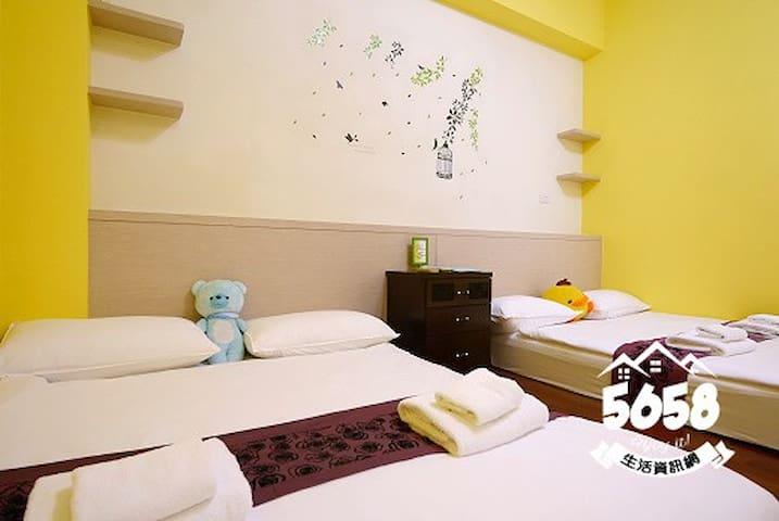 東港藍天白雲的度假勝地--阿瑪斐皇家民宿~巴里四人房 - Donggang Township - Bed & Breakfast