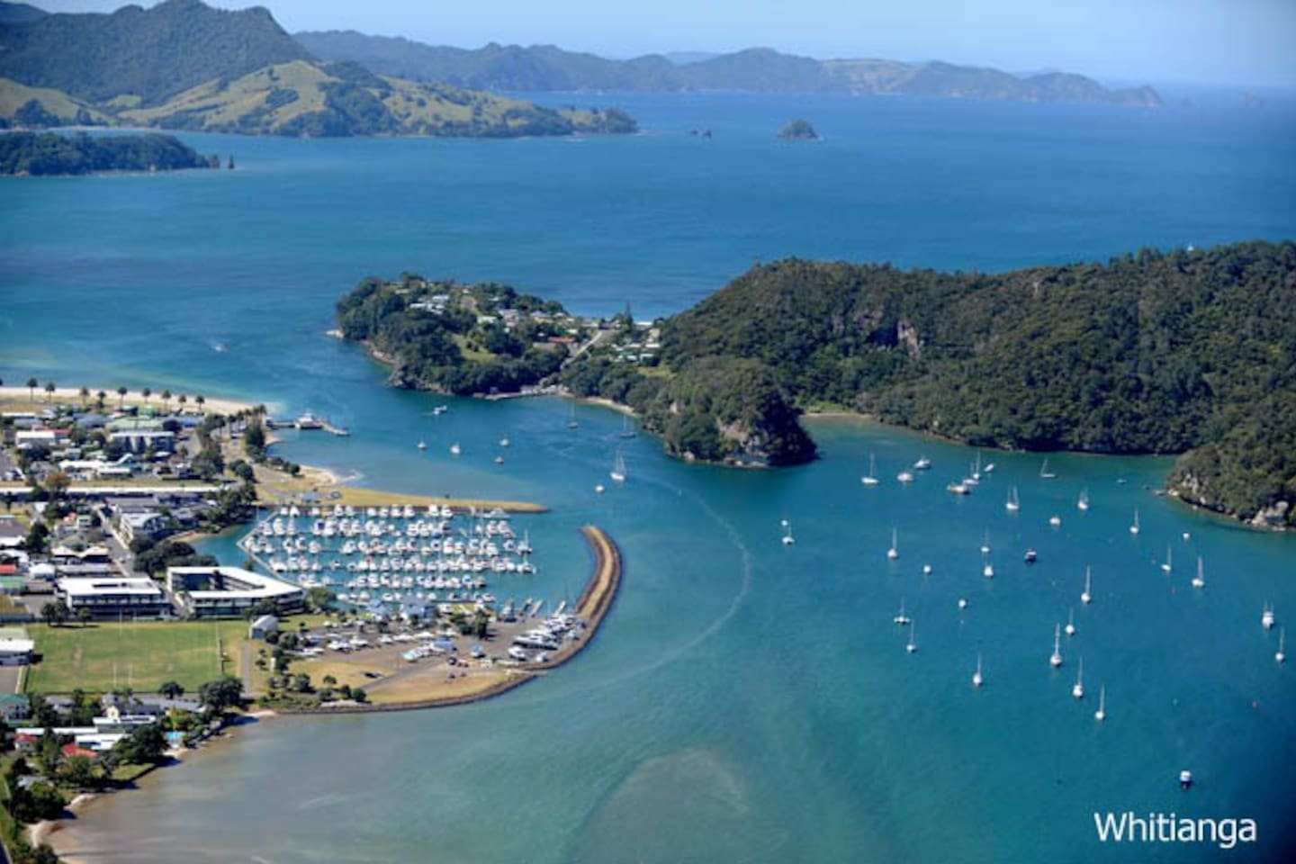 Aerial photo of Whitianga harbour (not of property)