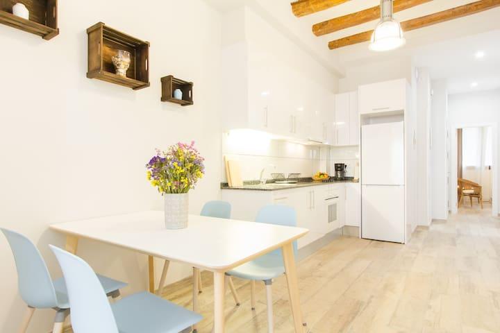 Exclusive Three Bedroom Apartment w Charming Patio