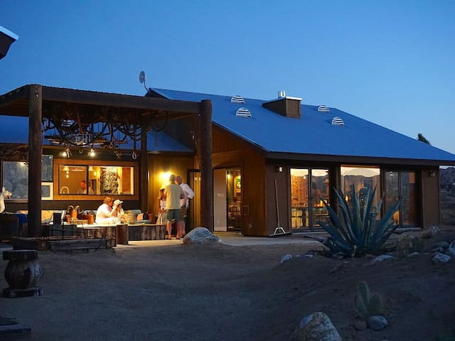 Stargazing Desert Retreat stay in a movie set.
