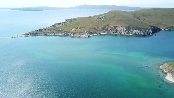Issiz Adada Denize Sifir Izole Bir Tatil