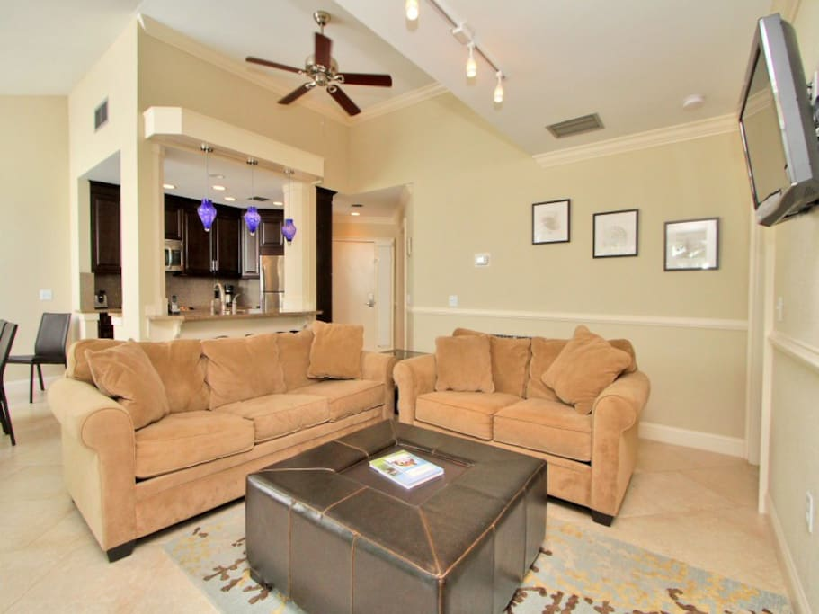 Living Room with Flat Screen at 711 Barrington Park