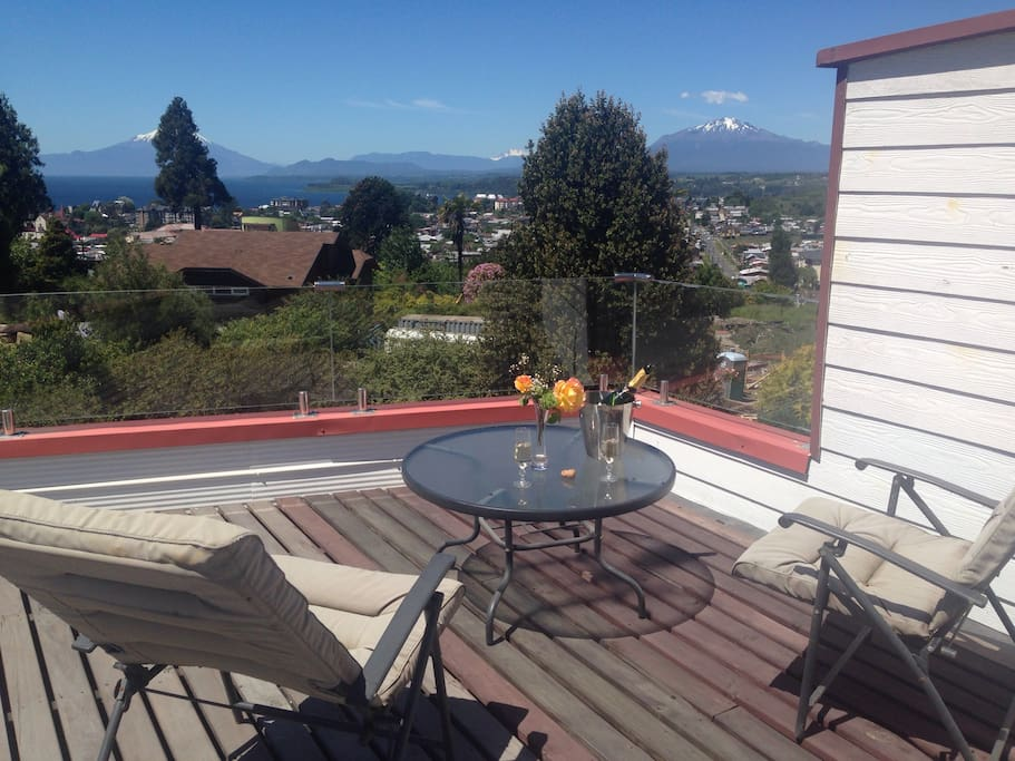 Terraza para relajarse y disfrutar de la vista panorámica