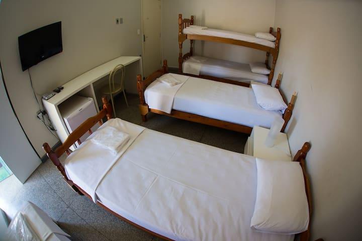Dormitório tipo hotel no centro de Campinas