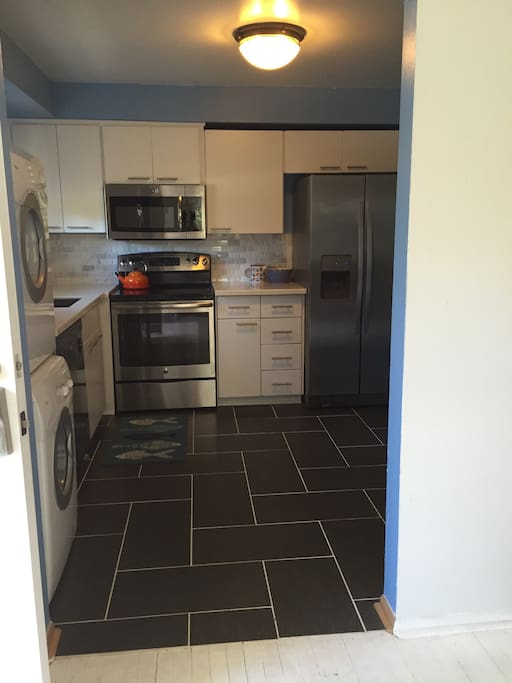 Kitchen- newly remodeled with all stainless steel appliances. Washer/Dryer, dishwasher, microwave and a full sized pantry.