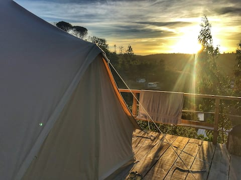 Big Bell Tent by the vines