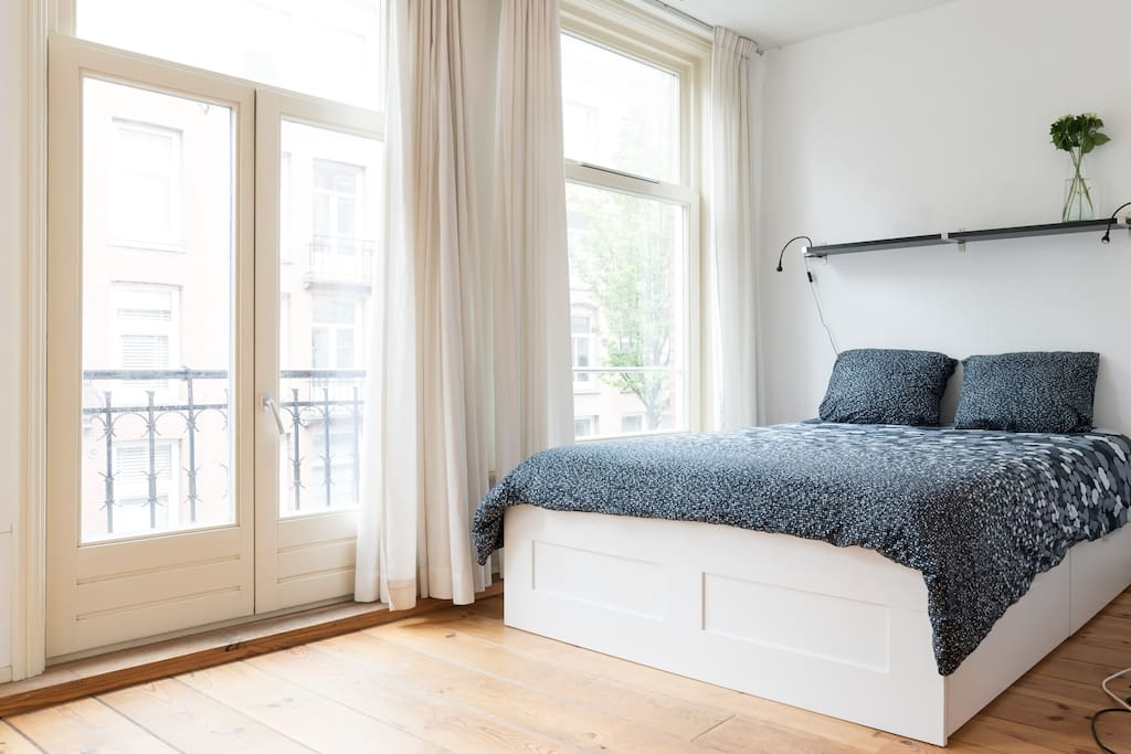 Bedroom with French balcony