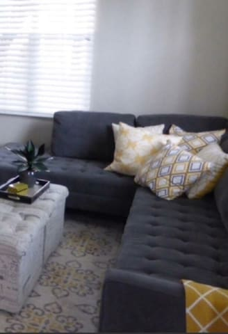 Family room area  with 2 sofa bed    for extra guests (1 full size and the other is twin size)