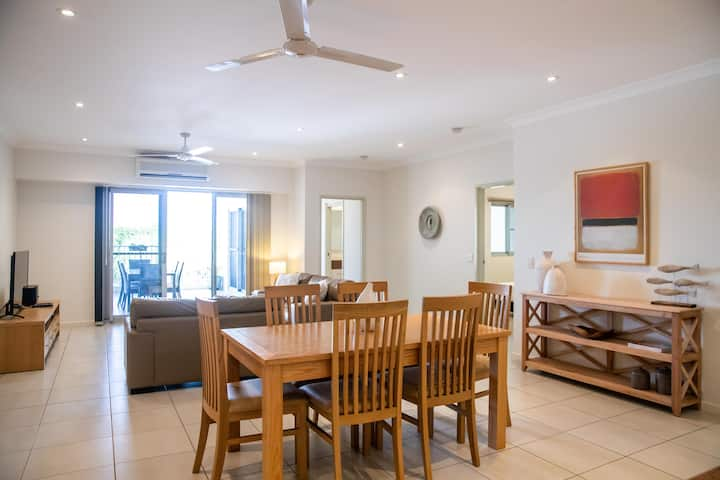 Spacious + Modern Apartment with Aircon & Pool!