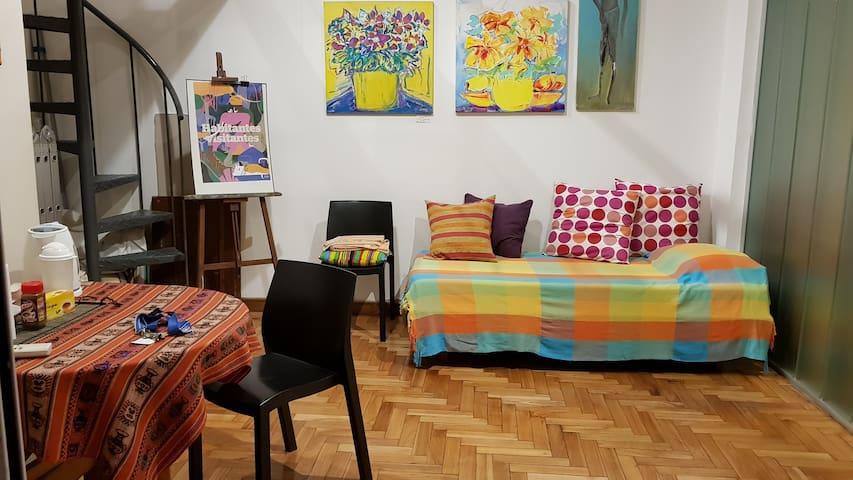 Habitación individual con baño privado en Palermo