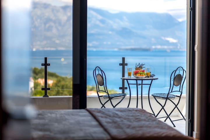 Wake up to amazing sea view from one of the bedrooms equipped with super comfortable bed