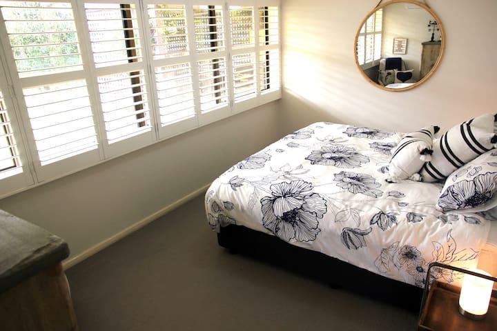 Main bedroom - all that wonderful light