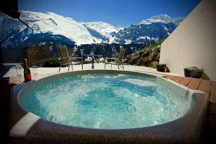 ALPHAVEN Apt. A   Hot Tub, Log Fire - Engelberg - Apartment