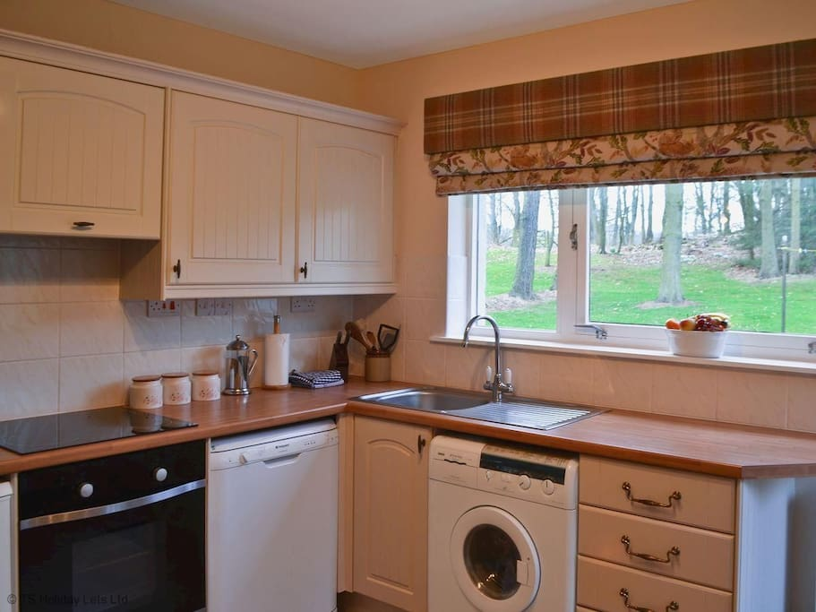 kitchen with woodland view