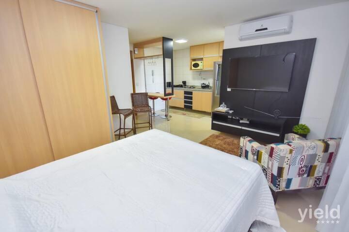 #1410#Lindo loft mobiliado no Bueno c/Wi-Fi e vaga