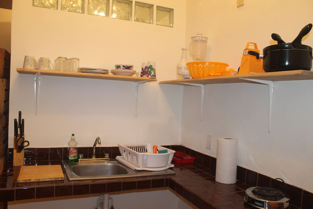Kitchen with all the necessary to prepare  meals