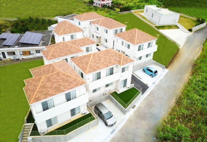 87 Onna Private Villa/Max to 17ppl/Free WIFI