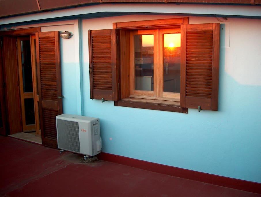 terrazza mansarda e finestra cucina