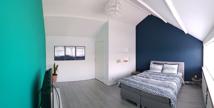 Freshly renovated guestroom near Rotterdam