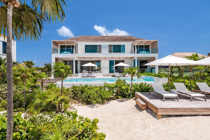Beach Enclave Long Bay Villa 4 - 7BR Beachfront