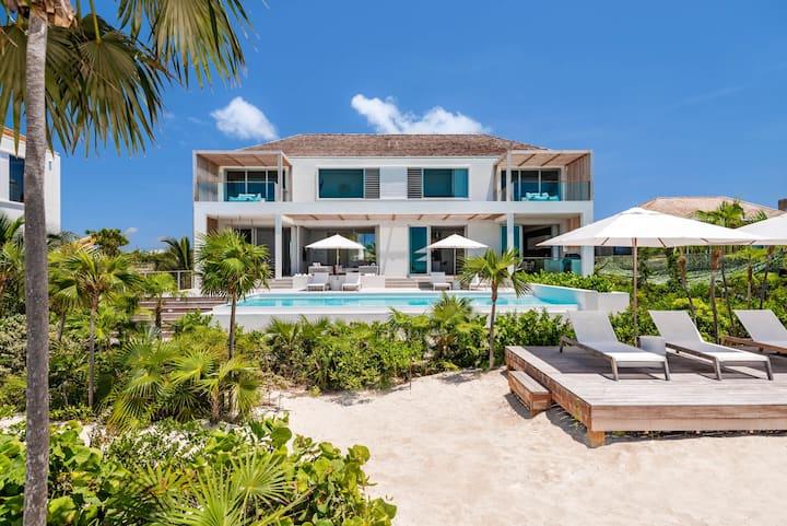 Beach Enclave Long Bay Villa 4 - 7BR Beachfront