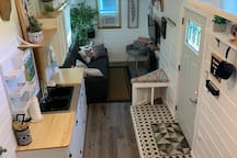 Your temporary tiny home away from home, loft view