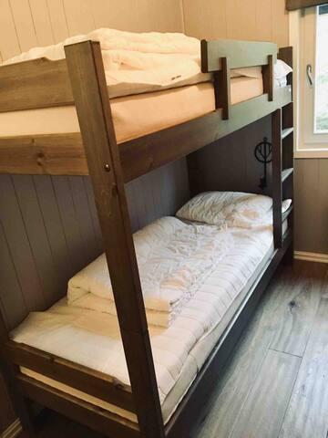 Bedroom 2: 4 bunk-beds and closet