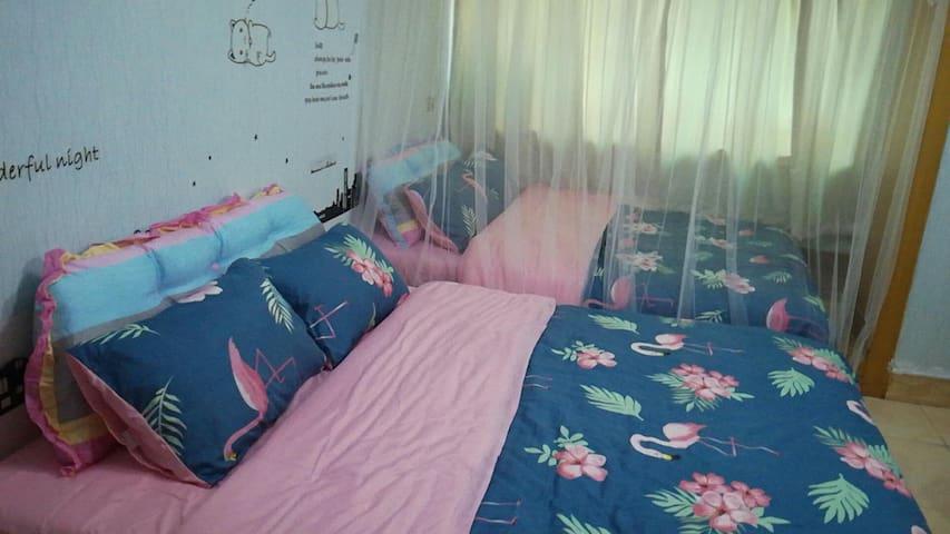 可以加两张床哟