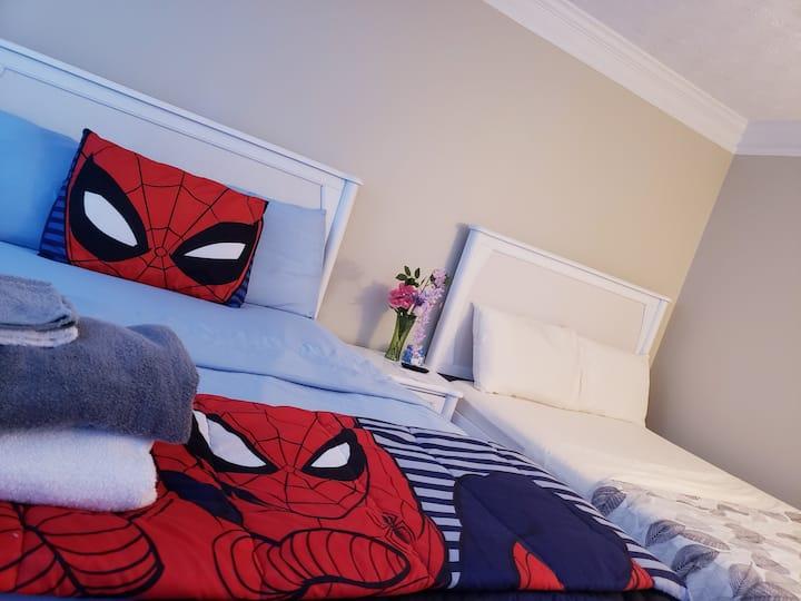 HALF BED ROOM No physical Door.