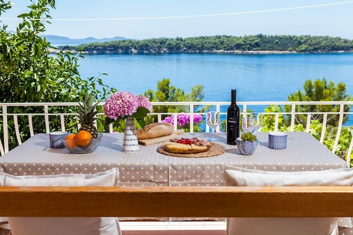 Croatia, Korcula, Breathtaking Grandma's apartment