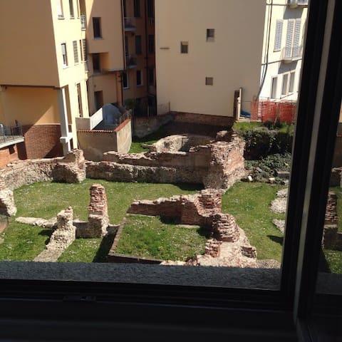 Centro storico vista rovine romane