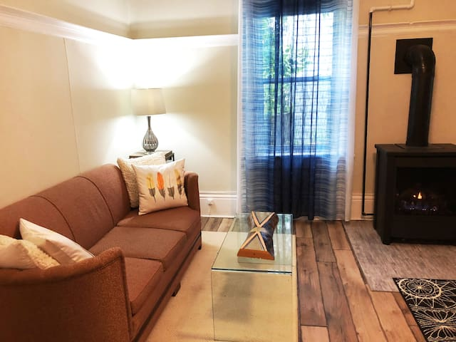Comfy Downtown Collingwood with private backyard