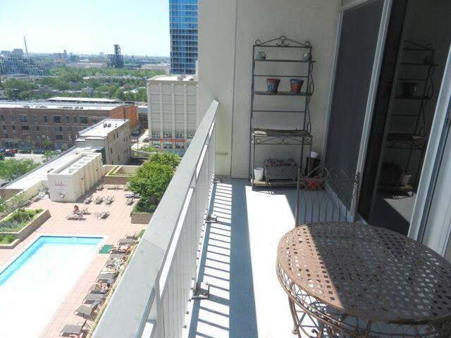 Balcony pool view southwest