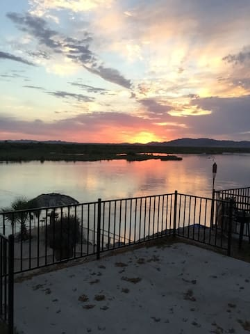 Trailer on the Colorado River