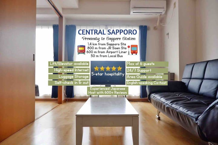 BRAND NEW SUPERB apartment near Sapporo Sta!