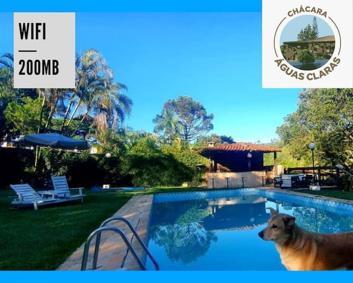 Chácara  pesca lareira piscina wifi office 9000m²