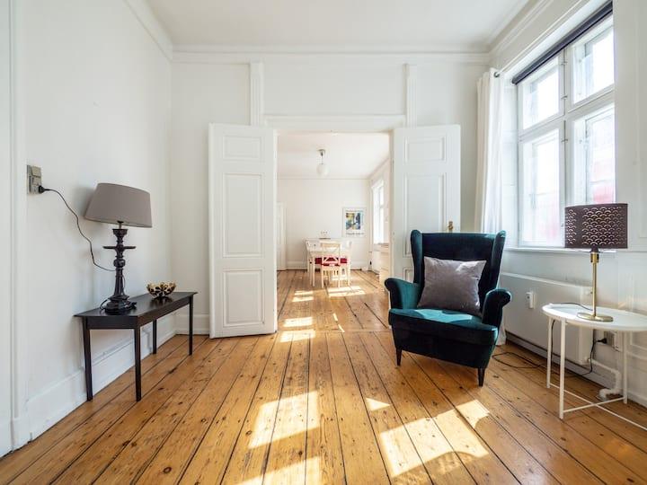 WHITE DOUPLEX CHARM: big flat in the city centre
