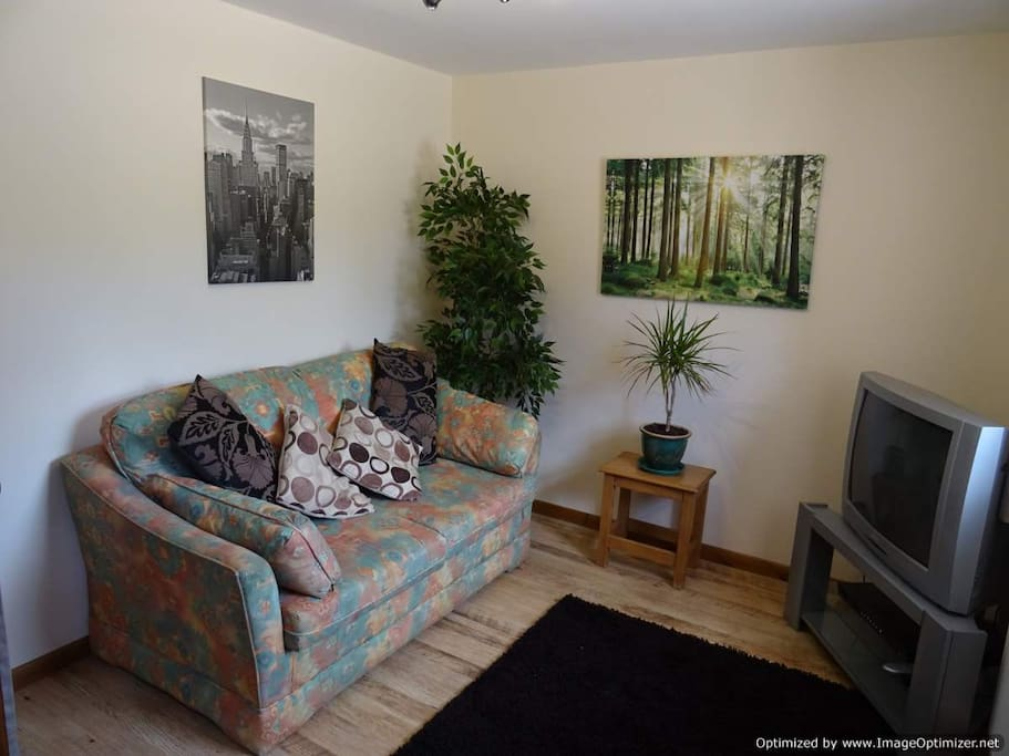Separate snug area with TV