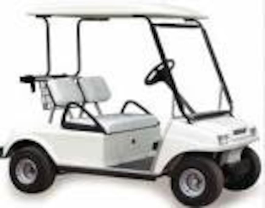 "This golf cart is available for your use to explore the 72 acres of property which makes up ""Paradise Lakes Resort"".   The cost of the golf cart is ZERO.  Must have valid drivers license and sign damage waiver to use.  Explore the freedom we offer."