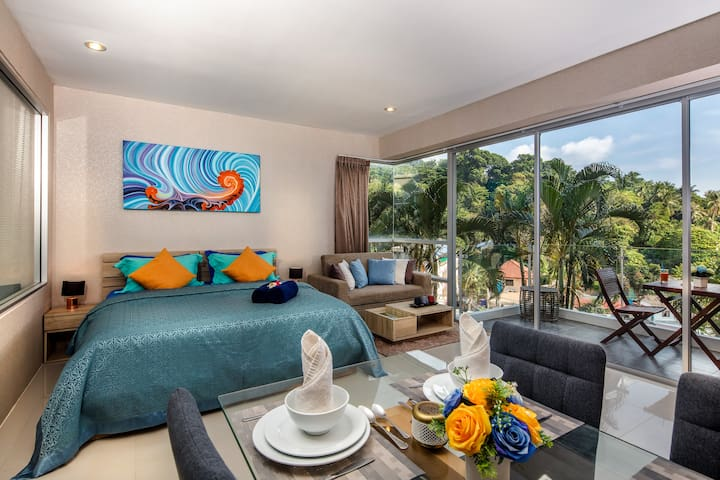 Wonderful Fully Equipped Studio @Karon, beach-800m