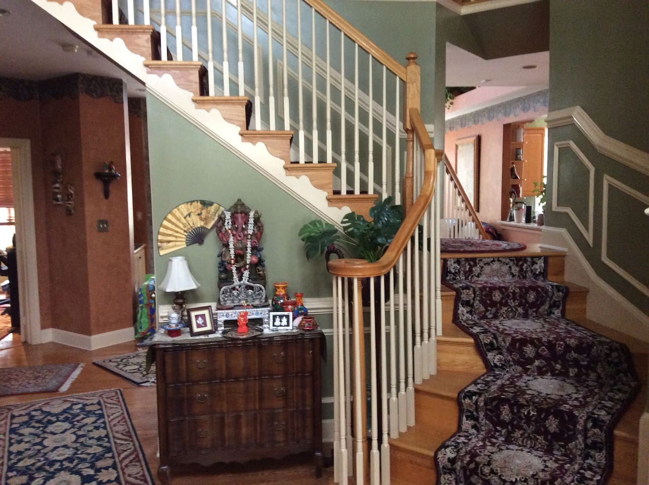 Entrance to welcome guest and stairs to go to bedroom