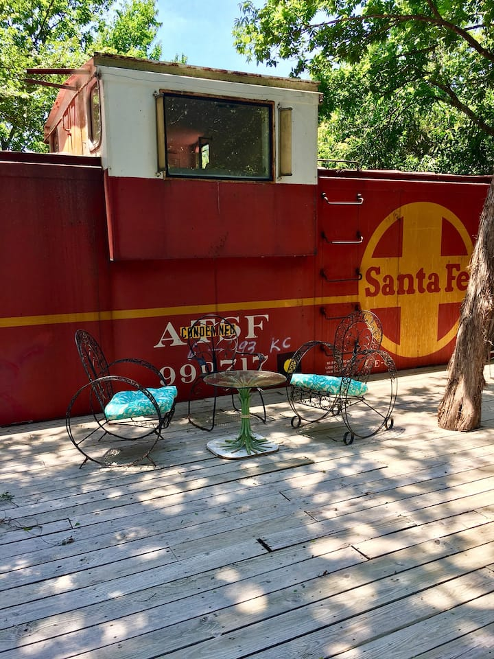Sante Fe Caboose #3 with a bed in the cupola