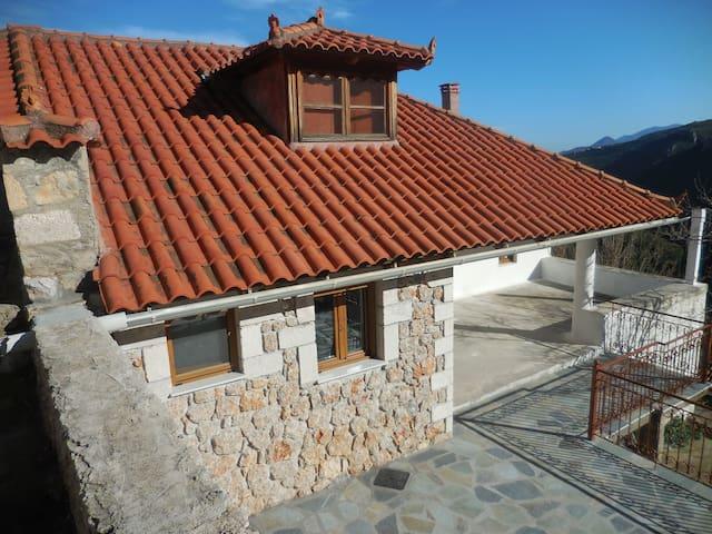 Tsakonian stone house in Melana
