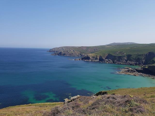 Gurnards Head on the north coast towards St Ives, a 20 minute drive away.