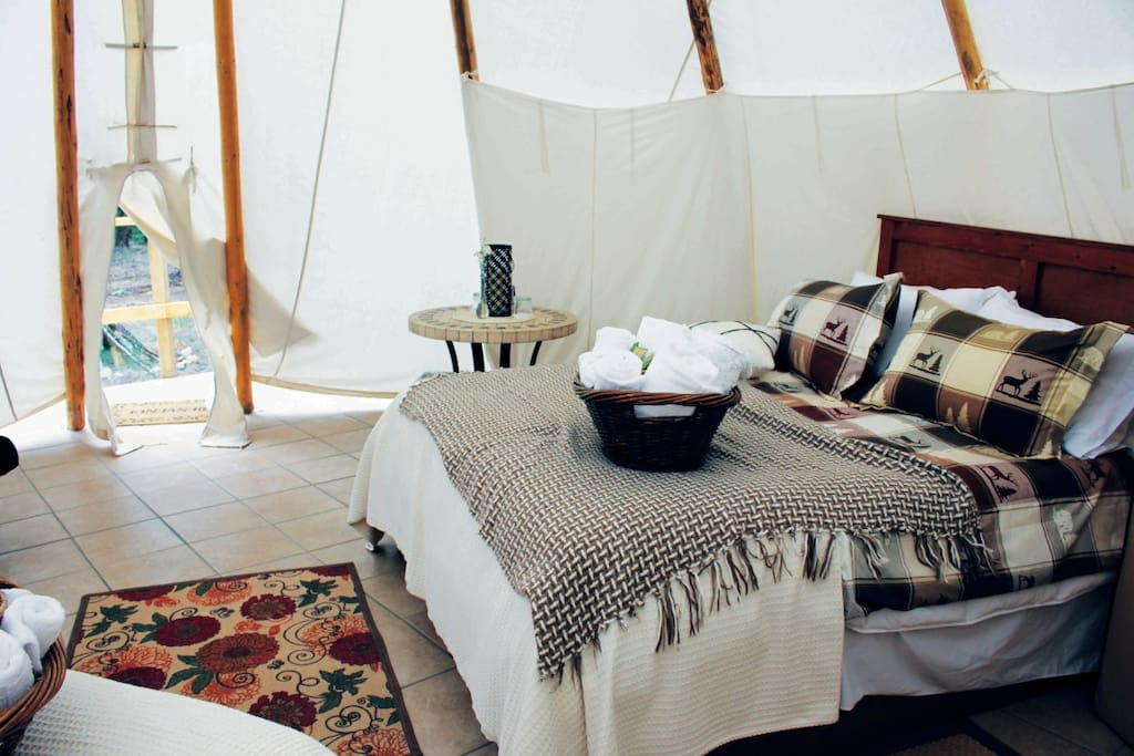 Luxury Tipi at YD Guest Ranch in Ashcroft, BC