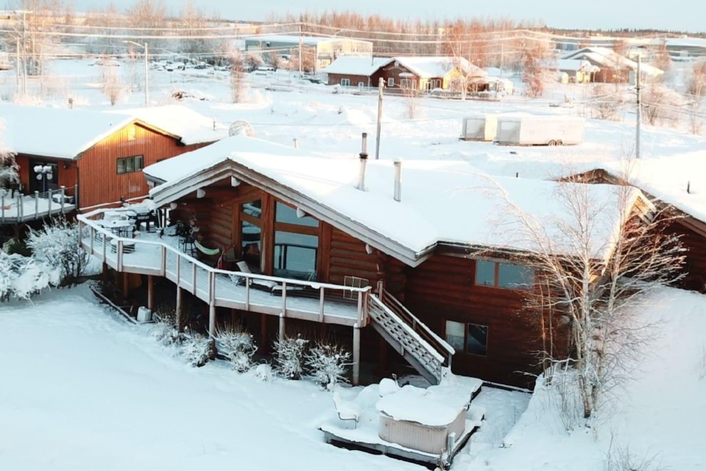 Genuine Lake Front Alaskan Log Home